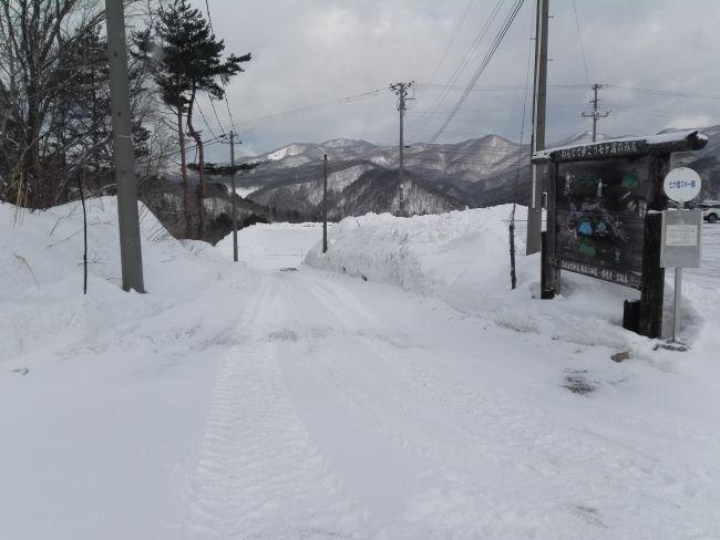 七ヶ宿スキー場,第二駐車場通路