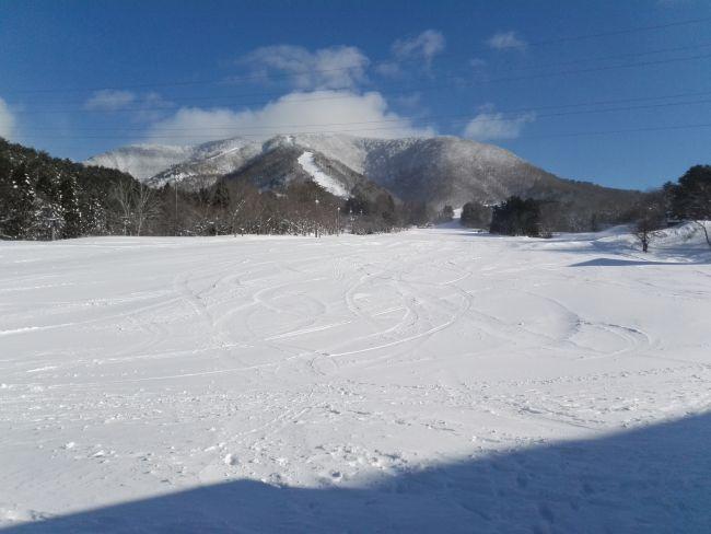 七ヶ宿スキー場の初級コース