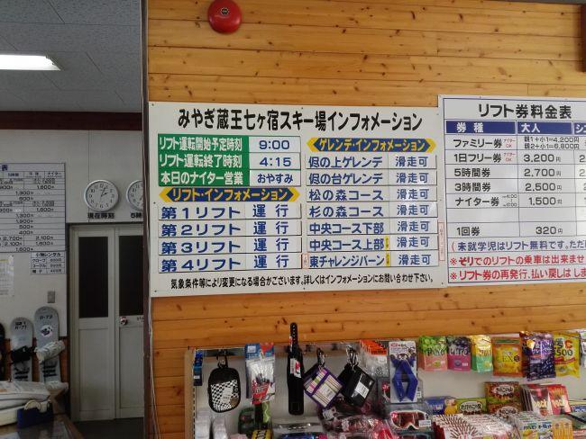 七ヶ宿スキー場,ゲレンデ状況