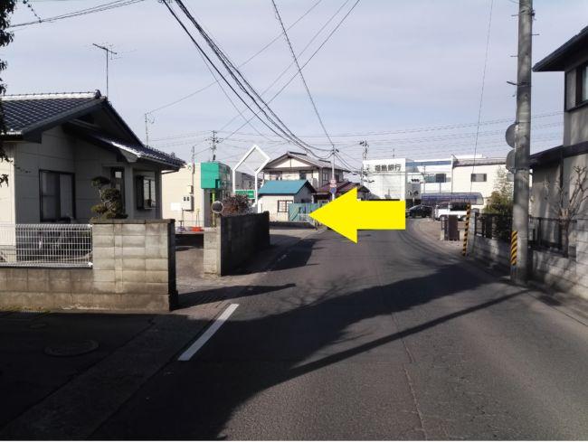 JR笹木野駅方面から来た場合